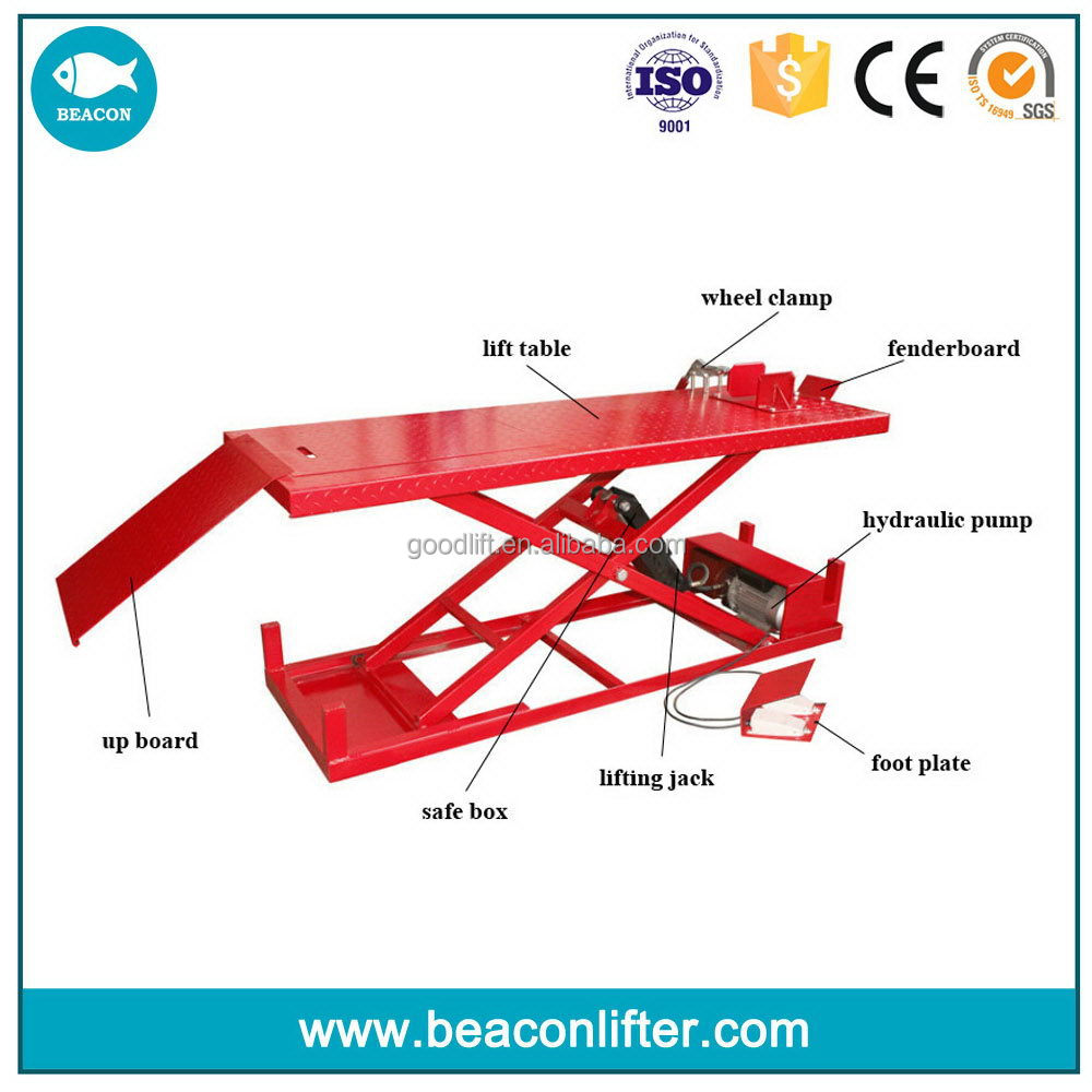 Bottom price manufacture pneumatic motorcycle lift atv lift