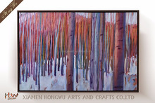 Xiamen City Home Goods Modern Tree Abstract Oil Painting