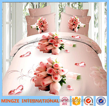 sex and romatic rose style 3d polyester bedding set