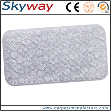 Waterproof non slip 3D logo design bathtub waterproof pvc bath mat