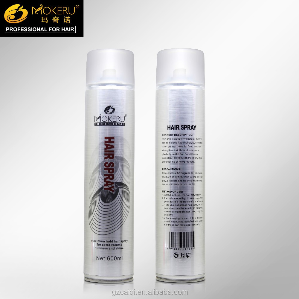 Hot sale hair spray super hold quickly fixed hairstyle 600ml hair spray