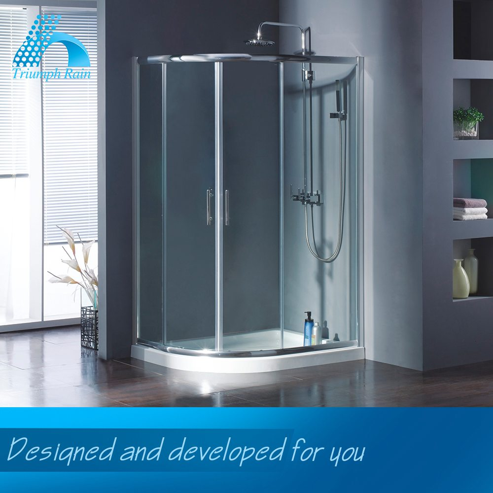 Exceptional Quality Good Price Unique Design Polished Curved Shower Enclosures Glass