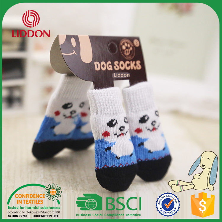 Cute Deisgn Anti Slip Pet Shoe Socks for Dogs Cats Pet Animal Socks