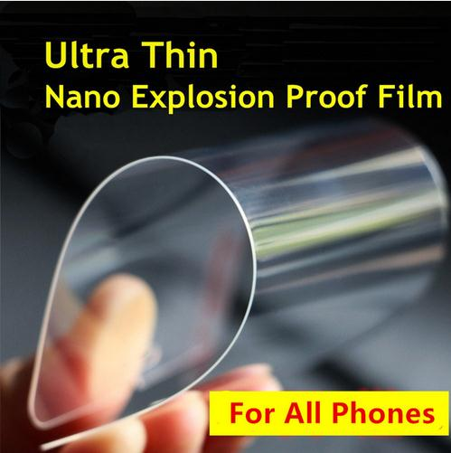 0.05mm Nano Screen Protector 100% Better than Tempered Glass For iPhone 7 6 6s 6plus 5 5s 4s Samsung Galaxy S4 S5 S6 Note 3 4 5