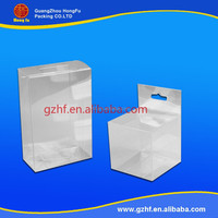 China manufacturer clear pvc plastic box for mobile phone accessories