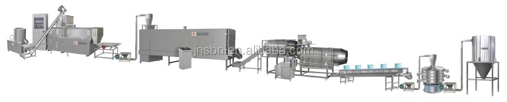 Twin-screw extruder Large Output Professional Useful floating Fish feed machinery
