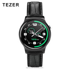 TEZET GW01L with Touch Screen BT with 128M+64M for Android and IOS MTK2502C Leather Smart Watch