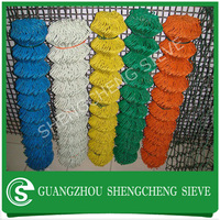 School plastic pvc coated link fence price per roll, roll chain link fence