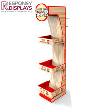 2018 hot-sale wood instant coffee display stand