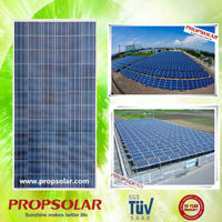 Propsolar photovoltaic pv solar panel 12v rv boat off grid with TUV, CE, ISO, INMETRO certificates