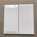 white matt bevelled glazed ceramic wall tile 75x150 3x6 inch