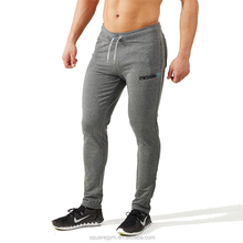 Custom Wholesale Workout Slim Fit Gym Fitness Men Skinny Joggers Black Fitted Pants