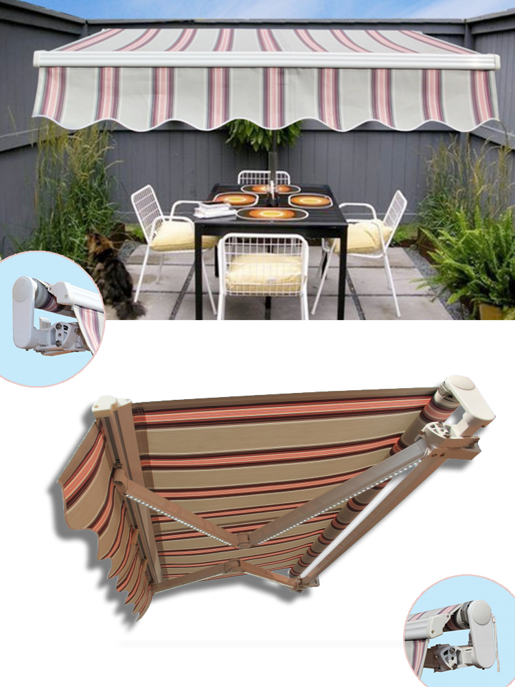 outdoor full cassette awning