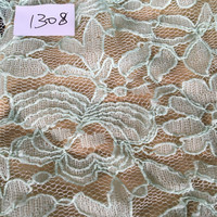 Fancy Flower Design of Nylon Spandex Lace Fabric Ready Goods