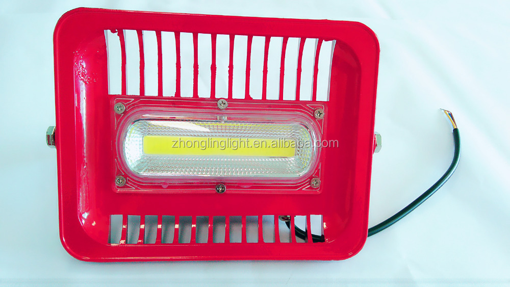 Colorful outdoor solar flood light with timer