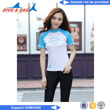 Custom logo print short sleeves Comfortable Breathable kids rash guard swim shirts