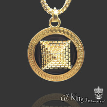 Men's hip hop 18 k gold plated Egypt pyramid pendant necklace China jewelry wholesale