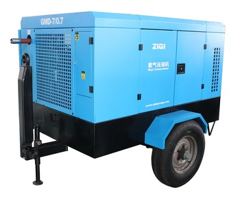 Diesel Portable Air Compressor Machine For Sandblasting
