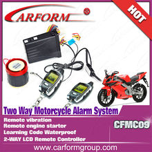 long distance 2 way LCD motorcycle alarm system waterproof alarm /CFMC09
