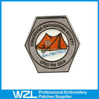 Fashion design embroidered patches custom silk screen patches