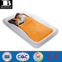 flocking inflatable toddlers bed portable inflatable children camping travel airbed air mattress bed