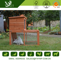 Favorable strong keep out the cold wooden rabbit hutch with best price