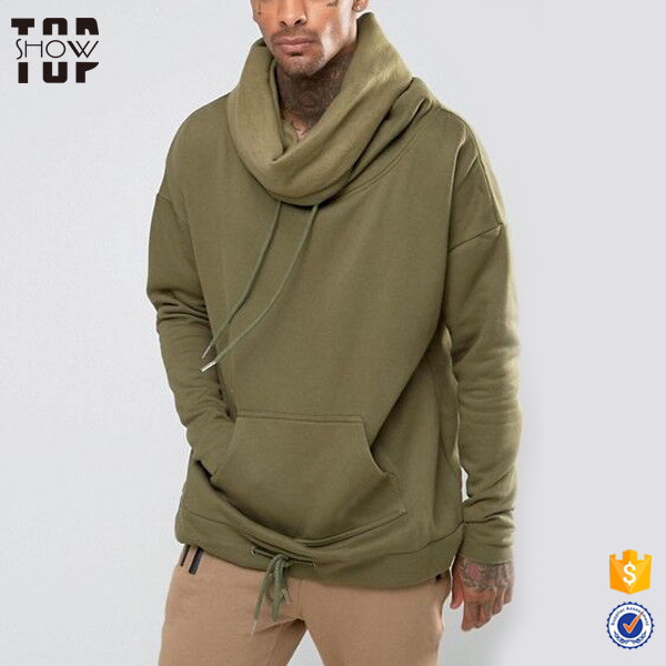 Clothing manufacturers hoodie sherpa fleece pullover custom men cowl neck hoodies