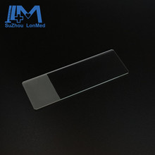 High clear frosted cutted edges microscope slide glass for medical