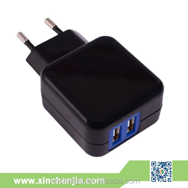 5V2.1A US EU AU UK pulg travel charger dual port usb wall charger