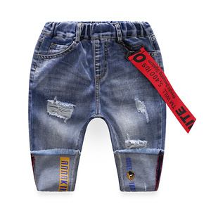 YH236 New design fashion blue toddlers pants baby jeans wholesale