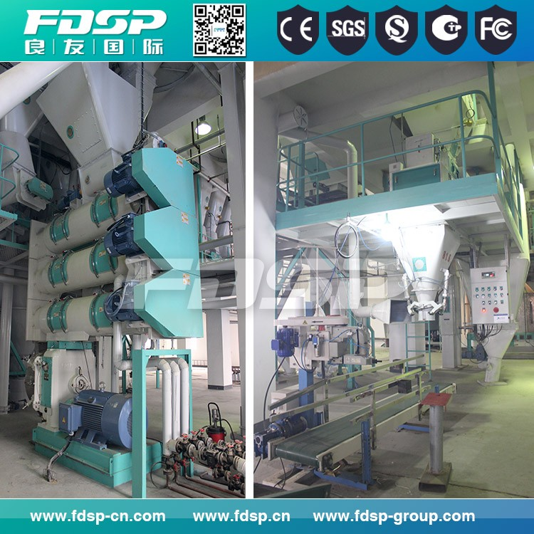 Widely Used Small Feed Mill Machine/3-5tph Animal Feed Processing Line Manufacturer