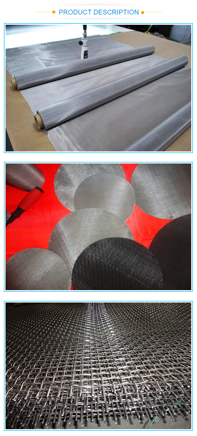 plain weave 304 stainless steel wire mesh (manufacturer)