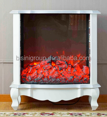 European Classic Simple Style imitation fack flame white Khaki electric fireplace for home hotel