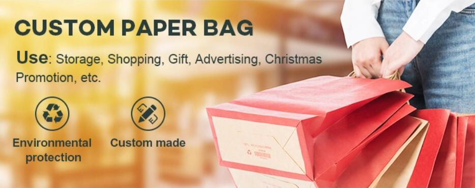 Customize carrier kraft paper bags for bakery with high quality jewelry