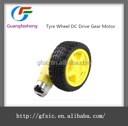 Hot offer for Smart Car Robot Tyre Wheel 6V DC Drive Gear Motor