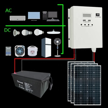 600W PWM wall mounted solar charge controller inverter system