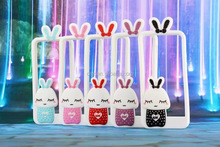New Arrival 3D Cute Rabbit LED Flash UP Light Soft Silicone Bumper Case For Apple iPhone 5 5s