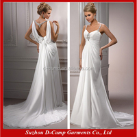WD-875 Stunning detachable cape flowing chiffon pictures of wedding dresses for pregnant women