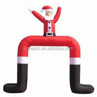CUSTOM inflatable santa claus archway for Christmas party S8019