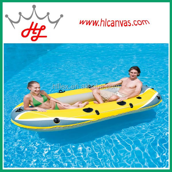 HL waterproof and fireproof tarpaulin inflatable banana boat for sale
