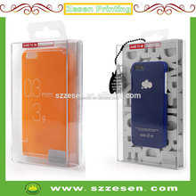 Acrylic PS clear packaging box for cell phone protection case electronic products