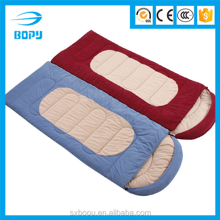 cold weather suitable single polar fleece winter warm sleeping bag with hat