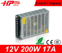 12v power supplies,alibaba china ac-dc power supply outlet single output type constant voltage 200w led switching power