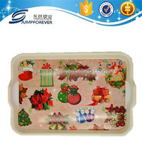 hot promotion gift plastic christmas design cake plate