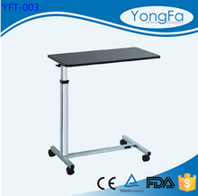 YFT-003 Hospital adjustable laptop table over bed table