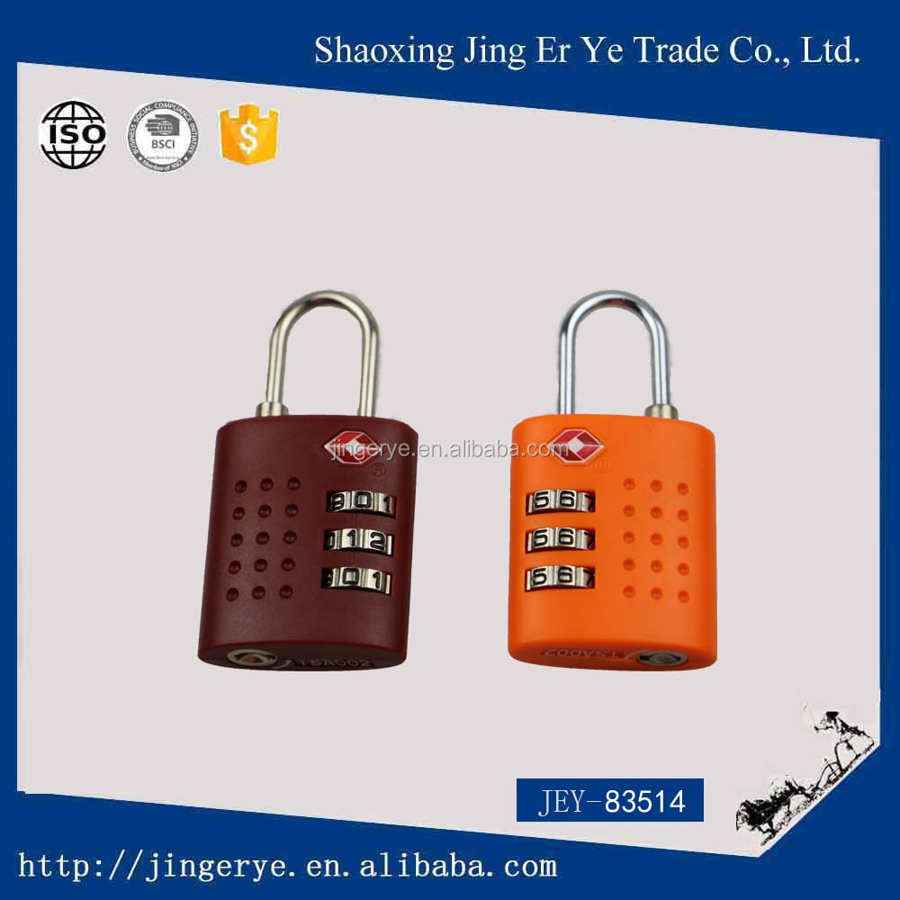 3 dail OEM tsa travel luggage lock