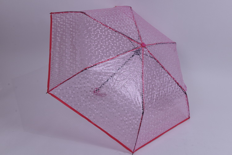 Transparent Umbrella Manual Folding Portable Outdoor Parasol Creative Clear Umbrella