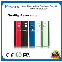 best selling power bank with replaceable battery with flashlighting 2600 mAh power bank