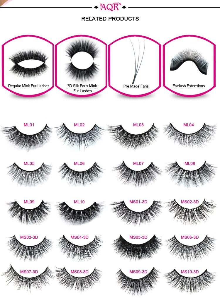 Top Quality Private Label real siberian Natural Looking 3d Mink Fur Eye Lash