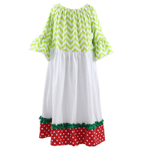 wholesale christmas dress boutique for little girls kids fall frock designs pictures long sleeve maxi dress